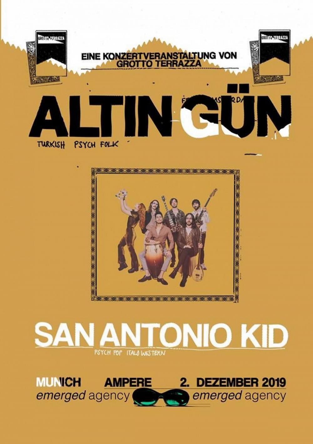 Tapefruit Konzert: Altin Gün + San Antonio Kid | 02.12.2019 @ Ampere