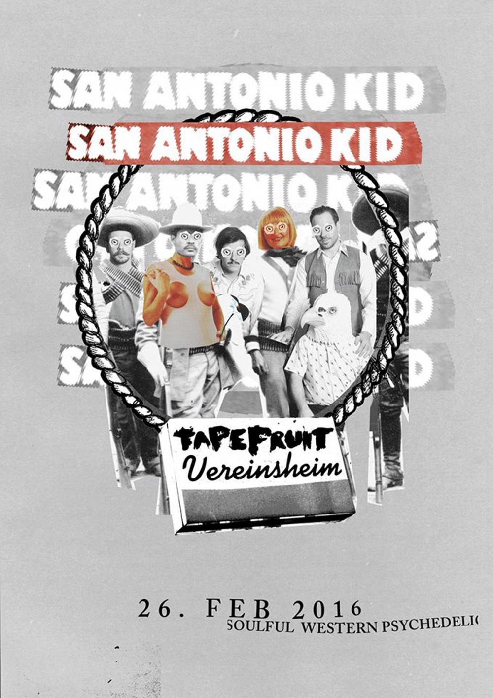Tapefruit Konzert: San Antonio Kid | 26.02.2016 @ Vereinsheim