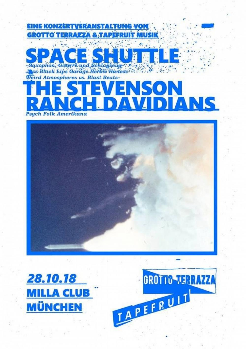 Tapefruit Konzert: Space Shuttle + The Stevenson Ranch Davidians | 28.10.2018 @ Milla Club