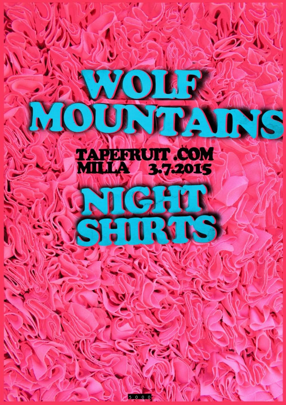 Tapefruit Konzert: Wolf Mountains + Night Shirts | 03.07.2015 @ Milla Club