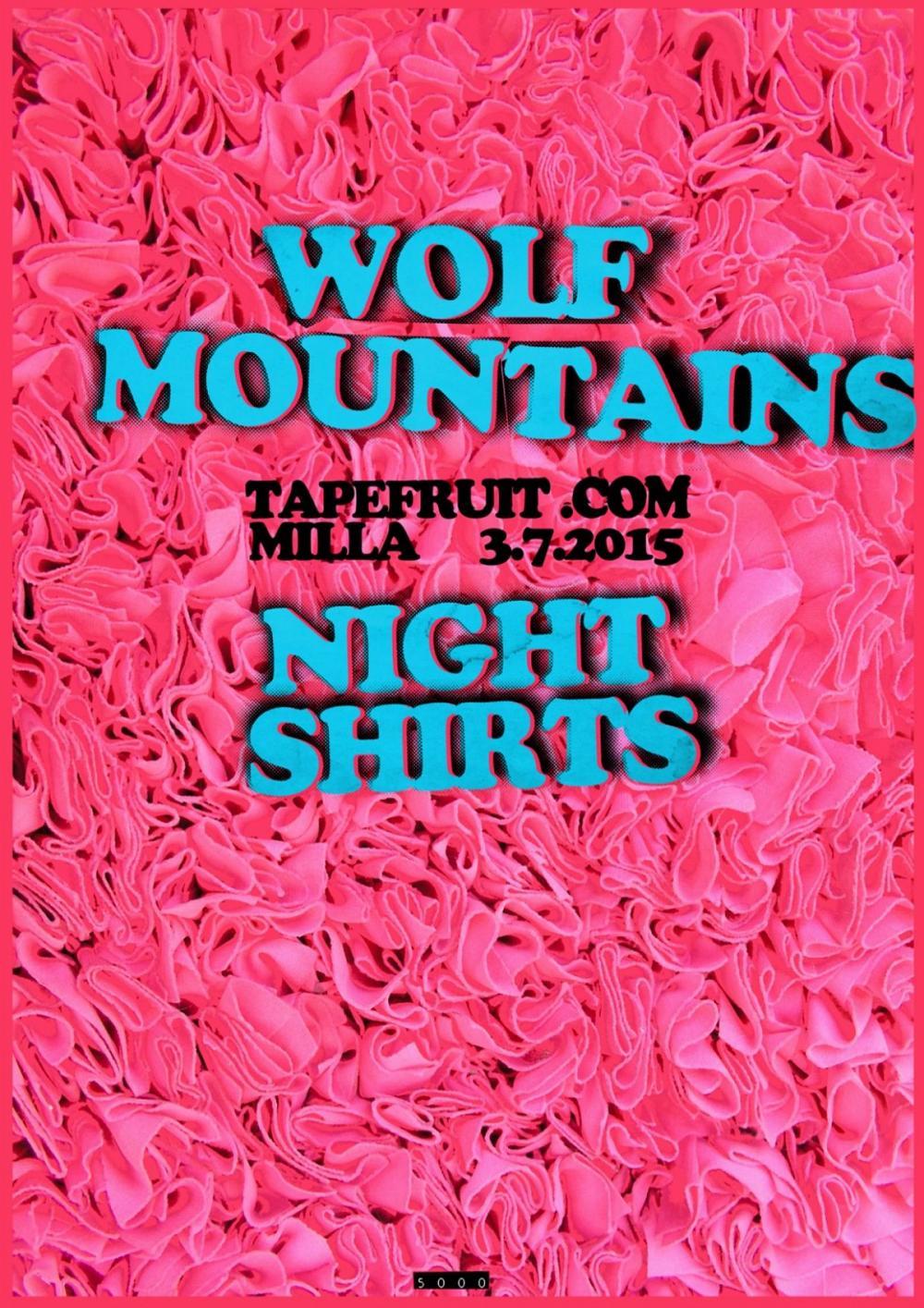 Tapefruit Konzert: Wolf Mountains + Night Shirts | 03.07.2015 @ Milla Club